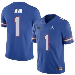 Jordan Brand Men #1 Percy Harvin Florida Gators College Football Jerseys Royal 371549-841