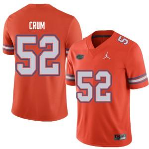 Jordan Brand Men #52 Quaylin Crum Florida Gators College Football Jerseys Orange 466860-822