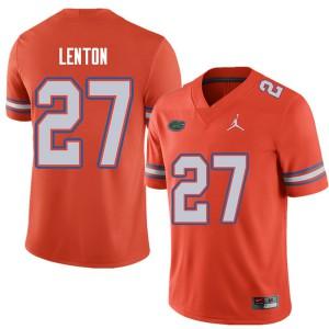 Jordan Brand Men #27 Quincy Lenton Florida Gators College Football Jerseys Orange 701867-892