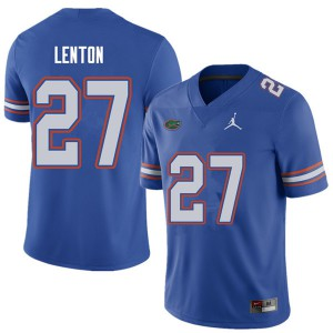 Jordan Brand Men #27 Quincy Lenton Florida Gators College Football Jerseys Royal 162204-141