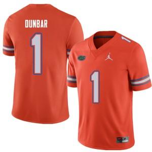 Jordan Brand Men #1 Quinton Dunbar Florida Gators College Football Jerseys Orange 261122-492