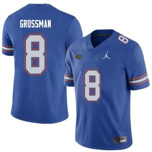 Jordan Brand Men #8 Rex Grossman Florida Gators College Football Jerseys Royal 366679-981