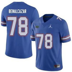 Jordan Brand Men #78 Ricardo Benalcazar Florida Gators College Football Jerseys Royal 568145-516