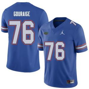 Jordan Brand Men #76 Richard Gouraige Florida Gators College Football Jerseys Royal 832982-964
