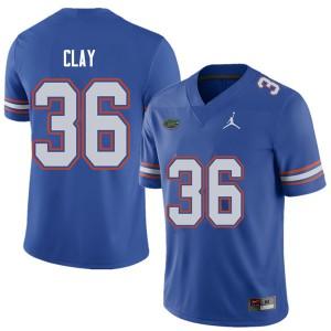 Jordan Brand Men #36 Robert Clay Florida Gators College Football Jerseys Royal 897731-400