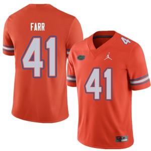 Jordan Brand Men #41 Ryan Farr Florida Gators College Football Jerseys Orange 225249-771