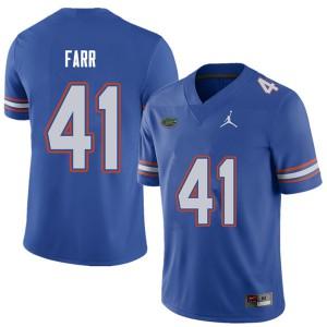 Jordan Brand Men #41 Ryan Farr Florida Gators College Football Jerseys Royal 497254-374