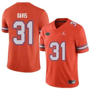 Jordan Brand Men #31 Shawn Davis Florida Gators College Football Jerseys Orange 713269-817
