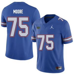 Jordan Brand Men #75 T.J. Moore Florida Gators College Football Jerseys Royal 369807-514