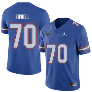 Jordan Brand Men #70 Tanner Rowell Florida Gators College Football Jerseys Royal 700717-613