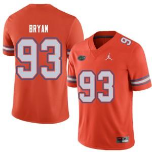 Jordan Brand Men #93 Taven Bryan Florida Gators College Football Jerseys Orange 354167-298