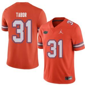 Jordan Brand Men #31 Teez Tabor Florida Gators College Football Jerseys Orange 263125-709