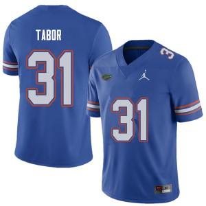 Jordan Brand Men #31 Teez Tabor Florida Gators College Football Jerseys Royal 328800-741