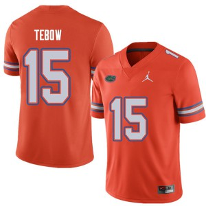 Jordan Brand Men #15 Tim Tebow Florida Gators College Football Jerseys Orange 241296-225
