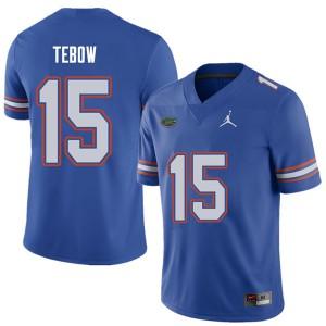 Jordan Brand Men #15 Tim Tebow Florida Gators College Football Jerseys Royal 202921-869