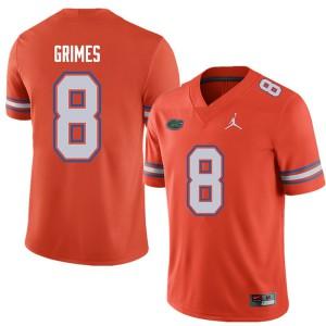 Jordan Brand Men #8 Trevon Grimes Florida Gators College Football Jerseys Orange 134867-758