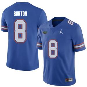 Jordan Brand Men #8 Trey Burton Florida Gators College Football Jerseys Royal 296213-886