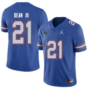 Jordan Brand Men #21 Trey Dean III Florida Gators College Football Jerseys Royal 600920-278
