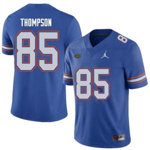 Jordan Brand Men #85 Trey Thompson Florida Gators College Football Jerseys Royal 884856-721
