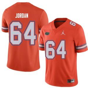 Jordan Brand Men #64 Tyler Jordan Florida Gators College Football Jerseys Orange 396119-180