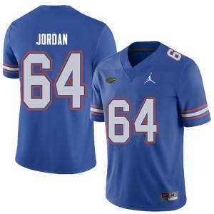 Jordan Brand Men #64 Tyler Jordan Florida Gators College Football Jerseys Royal 783311-872