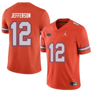 Jordan Brand Men #12 Van Jefferson Florida Gators College Football Jerseys Orange 466408-206