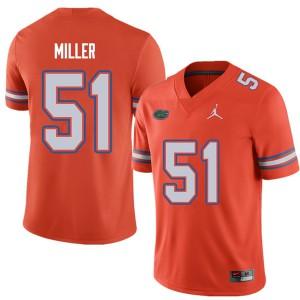 Jordan Brand Men #51 Ventrell Miller Florida Gators College Football Jerseys Orange 560311-420