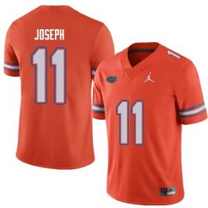 Jordan Brand Men #11 Vosean Joseph Florida Gators College Football Jerseys Orange 373013-476