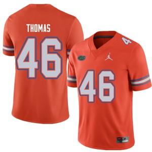 Jordan Brand Men #46 Will Thomas Florida Gators College Football Jerseys Orange 662820-773
