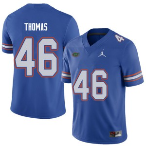 Jordan Brand Men #46 Will Thomas Florida Gators College Football Jerseys Royal 148407-811