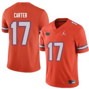 Jordan Brand Men #17 Zachary Carter Florida Gators College Football Jerseys Orange 334054-301