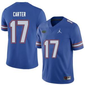 Jordan Brand Men #17 Zachary Carter Florida Gators College Football Jerseys Royal 332564-771