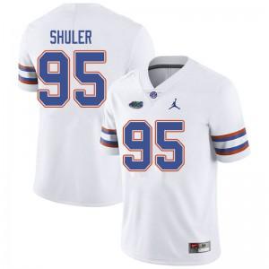 Jordan Brand Men #95 Adam Shuler Florida Gators College Football Jerseys White 338960-655