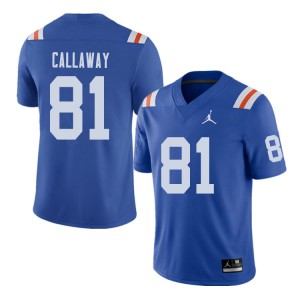 Jordan Brand Men #81 Antonio Callaway Florida Gators Throwback Alternate College Football Jerseys 286170-595