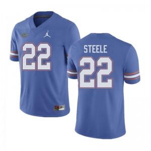 Jordan Brand Men #22 Chris Steele Florida Gators College Football Jerseys Blue 372906-144