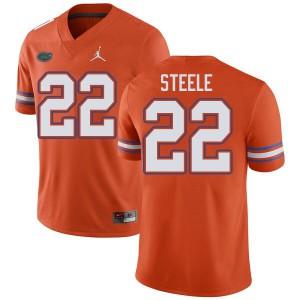 Jordan Brand Men #22 Chris Steele Florida Gators College Football Jerseys Orange 807185-898