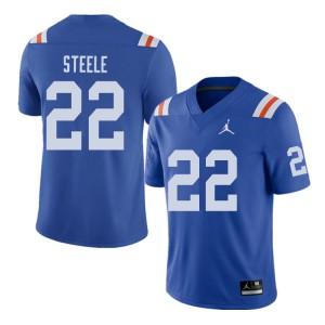Jordan Brand Men #22 Chris Steele Florida Gators Throwback Alternate College Football Jerseys Royal 812498-623