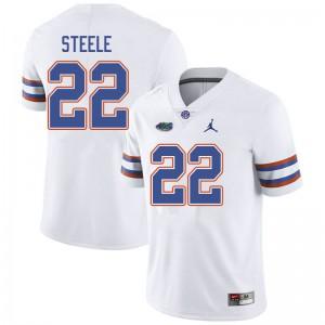 Jordan Brand Men #22 Chris Steele Florida Gators College Football Jerseys White 671917-829