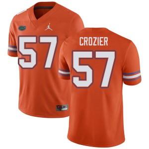 Jordan Brand Men #57 Coleman Crozier Florida Gators College Football Jerseys Orange 553214-585