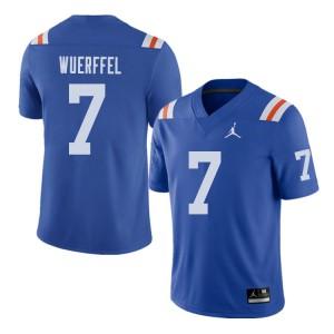 Jordan Brand Men #7 Danny Wuerffel Florida Gators Throwback Alternate College Football Jerseys 239718-499