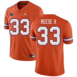Jordan Brand Men #33 David Reese II Florida Gators College Football Jerseys Orange 599214-432
