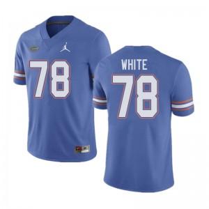 Jordan Brand Men #78 Ethan White Florida Gators College Football Jerseys Blue 900353-349