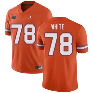 Jordan Brand Men #78 Ethan White Florida Gators College Football Jerseys Orange 713634-809