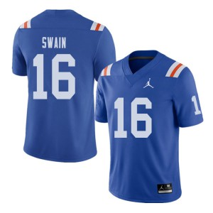 Jordan Brand Men #16 Freddie Swain Florida Gators Throwback Alternate College Football Jerseys 726232-224