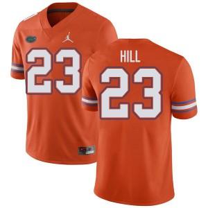 Jordan Brand Men #23 Jaydon Hill Florida Gators College Football Jerseys Orange 385583-721