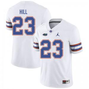 Jordan Brand Men #23 Jaydon Hill Florida Gators College Football Jerseys White 994765-578