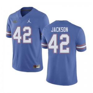 Jordan Brand Men #42 Jaylin Jackson Florida Gators College Football Jerseys Blue 182925-834