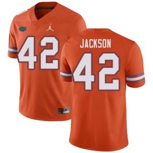 Jordan Brand Men #42 Jaylin Jackson Florida Gators College Football Jerseys Orange 940277-835