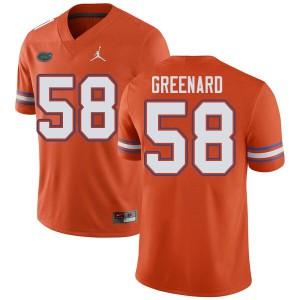 Jordan Brand Men #58 Jonathan Greenard Florida Gators College Football Jerseys Orange 852089-381