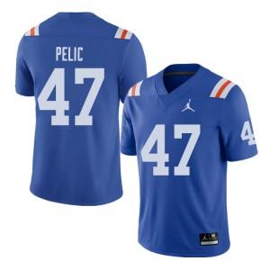 Jordan Brand Men #47 Justin Pelic Florida Gators Throwback Alternate College Football Jerseys Royal 766727-202